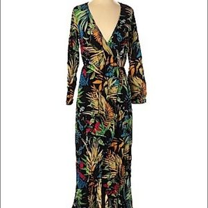 5/$50 Vessos Multicolored Tropical Print Dress S